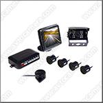 Проводная камера заднего вида для грузовиков ATS-606 с парктроником и LCD дисплеем 3,5 дюйма